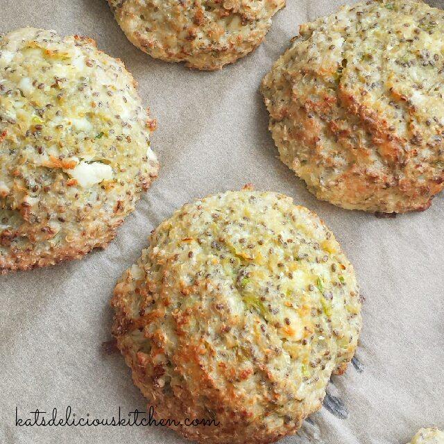 Baked Quinoa, Chia Cauliflower CheesePatties
