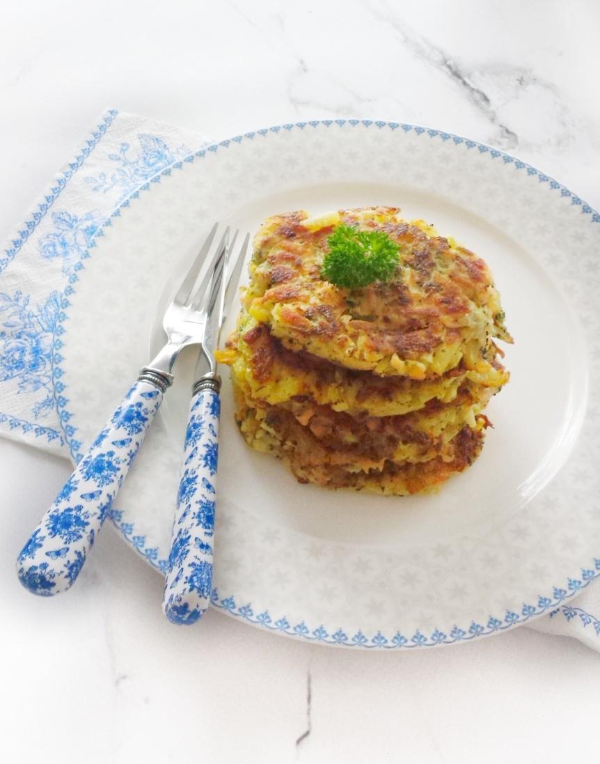 Rösti (Rosti) with Salmon & Vegetables
