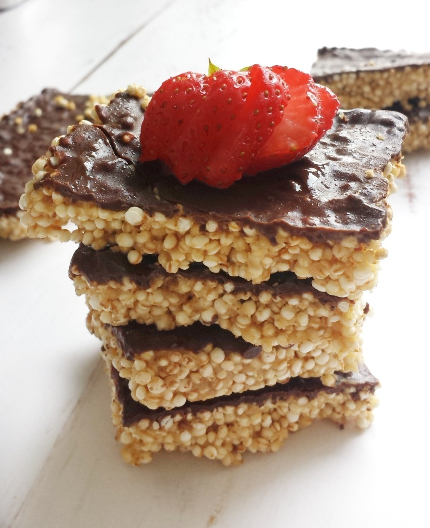 Peanut Butter Chocolate Quinoa Crispies