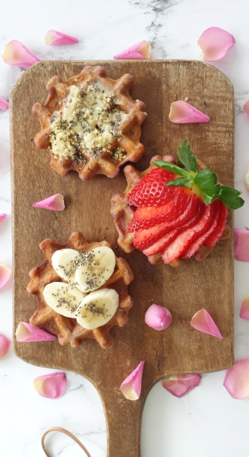 Coconut Oat Sweet Potato Waffles
