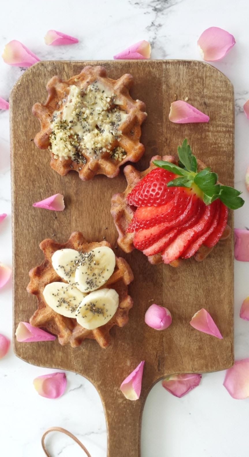 Coconut Oat Sweet Potato Waffles